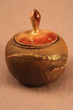 RAKU Unique Ceramic Companion Small/ Keepsake Funeral Cremation Urn #I009