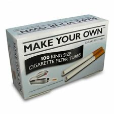 5 Boxes of 100 = 500....... Make Your Own RIZLA CIGARETTE King Size Filter Tubes
