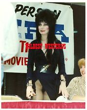 ELVIRA sexy VAMPIRE GIRL Busty PHOTO Mistress of the Dark HOT CANDID film promo