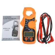 US LCD Display AC/DC Multimeter Electronic Tester Digital Clamp Meter Current