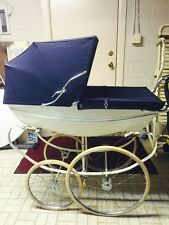 Vintage '70's WILSON Navy/White English Baby Pram  MINT CONDITION