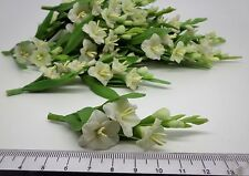 1 x Gladiolus Flower Miniatures Flower For Doll House Garden (White)