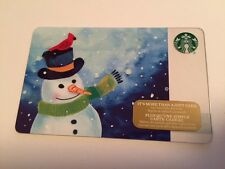 """Canada Series Starbucks """"SNOWMAN 2016"""" Holiday Gift Card - New No Value"""