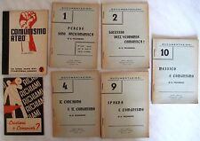 LOTTO DI 7 OPUSCOLI ANTICOMUNISTI – 1946