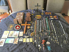 Catholic Relics St Jude Pio Anthony Lady Kibeo Holy Rosaries Sterling Gold Paten