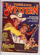 Thrilling Western Feb 1947 Sand In His Craw