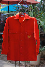 Vintage 1950s-60s Boy Scouts Of America BSA Red Wool Shirt Jacket USA