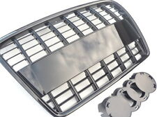Gloss black A8 style car grill compatible with Audi A3 8P2 2005-2008 slatted