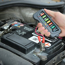 Automotive 12V Digital Car Battery Alternator Tester 6 LED Display Bike Truck