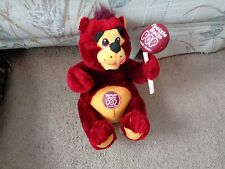 1999 TOOTSIE ROLL POP RASPBERRY BEAR LOLLIPOP CANDY ADVERTISEMENT PLUSH DOLL TOY