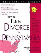 How to File for Divorce in Pennsylvania (Legal Survival Guides), Haman, Edward A
