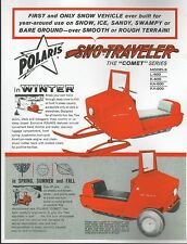 POLARIS SNOWMOBILE SNO-TRAVELER COMET SALES BROCHURE COPY  (293)
