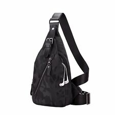 Men's Nylon Crossbody Bag Sports Backpack Satchel Shoulder Chest Pack Sling Bag