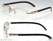 New Mens Womens Clear Lens Frame Glasses 80s Old School Retro Fashion Optical RX