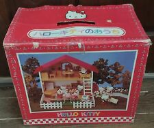 Vintage Japanese Hello Kitty Wooden Dollhouse - Fits Sylvanian Families - Rare