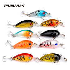 New Lot 9pcs Plastic Fishing Lures Bass CrankBait Crank Bait Tackle 4.5cm/4g