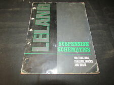 True Vintage Leland Suspension Schematic For Tractors Trailers and Buses Manual