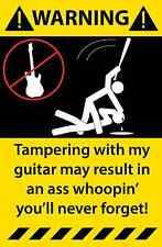 Acoustic Electric Guitar Warning Sticker Funny Decal Music instrument 07Y