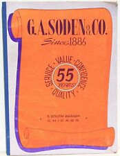 G A Soden Co Catalog 1941 Jewelry, Novelties, Lamps, Appliances, More