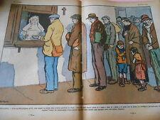 Soupes Populaires un bien poigant défilé à Paris dessin Print 1932