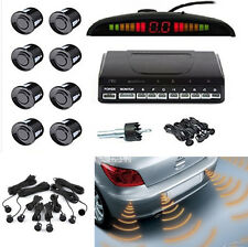 Black 8 Parking Sensor Reversing Radar Wireless Reverse Display Buzzer Alarm