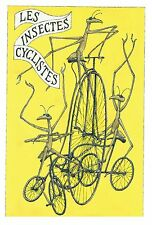 "EDWARD GOREY ""LES INSECTES CYCLISTES"" LARGE 10""x15"" Wall Art Poster Book Page"
