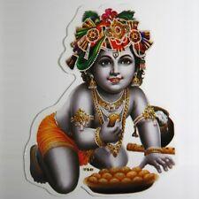 2x BABY KRISHNA Aufkleber Sticker, Indien Goa Hippie God-Stickers Puja OM 18