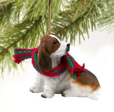 BASSET HOUND DOG CHRISTMAS ORNAMENT HOLIDAY  Figurine gift Xmas pet