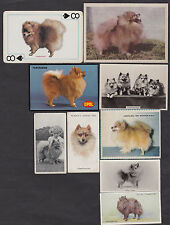 Lot of 9 Different Vintage POMERANIAN Tobacco/Candy/Tea/Promo Dog Cards