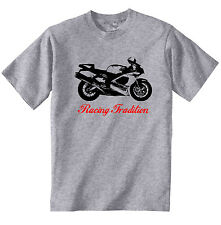 APRILIA RSV 1000 R 2003 INSPIRED - NEW COTTON GREY TSHIRT - ALL SIZES IN STOCK