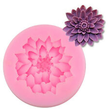 Lotus Silicone Cake Mould Cupcake Topper DIY Chocolate Biscuit Mold Baking Tools