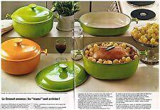 Publicité Advertising 1973 (2 pages) Les Plats et cocottes Le Creuset