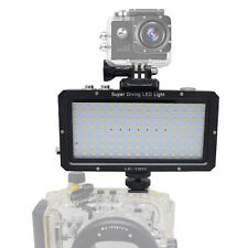 Mcoplus 40m/130ft Waterproof Underwater Video LED Light 1500LM for DSLR Camera