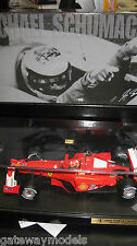 HOT WHEELS 1:18 F1 SCHUMACHER FERRARI 2000 WORLD CHAMPIONS  DISPLAY CASE LTD ED