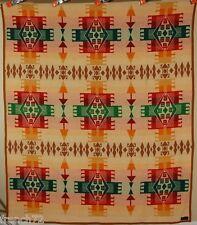 AMAZING Vintage 30's Wool Pendleton Cayuse Label Antique Blanket ~Indian Design!