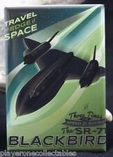 "SR-71 Blackbird Travel Poster 2"" X 3"" Fridge / Locker Magnet. U.S Air Force"