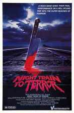 Night Train To Terror Poster 01 Metal Sign A4 12x8 Aluminium