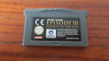 STAR WARS  EPISODE III  REVENGE OF THE SITH          --- pour GAME BOY ADVANCE