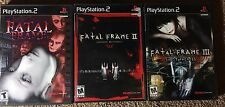 Fatal Frame 1, 2, & 3 Complete Trilogy (NTSC-U/C PS2 Horror Game Lot)