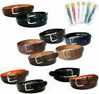 Childrens Childs Boys Black Brown Tan Navy Leather Lined Suit Jeans School Belt