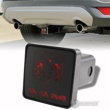 "Bully Hitch Cover 2"" Rear LED Trailer Towing Receiver w/ Brake Lights for DODGE"
