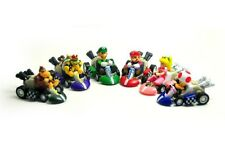 "Lot 6 Mario Bros 2"" MARIO Kart Pull-back Car Figure Set XMAS Gift"