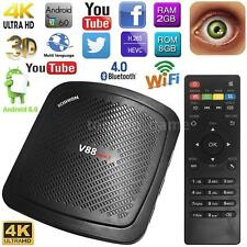 V88 Mini II Android 6.0 Smart TV Box 4K Quad Core 2GB 8GB WiFi Media Player N6R7