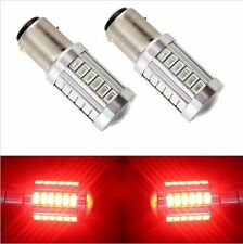2pcs Red P21W 1157 BA15S Cree 33 LED Bulb 5730 SMD Super Bright Car Light Auto