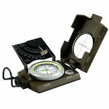 Professional Military Army Metal Sighting Compass w/Inclinometer Green Color