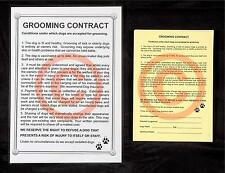 DOG GROOMING - CONTRACT & RELEASE SET stationery by GROOMERGRAPHIX