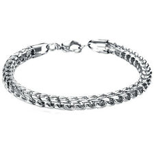 Fashion Men's Titanium Steel Snake Chain Bracelet Silver