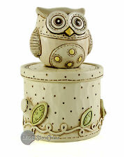 Juliana Baby Noahs Ark Resin Trinket Box Owl CG398