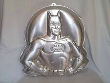 1989 WILTON BATMAN CAKE PAN 2105-6501 DC COMICS Vtg Baking Tin Super Hero Mold