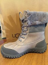 NEW UGG Adirondack II Boots WATERPROOF LEATHER GRAY WOMEN Size 6 Rated -20C -4F